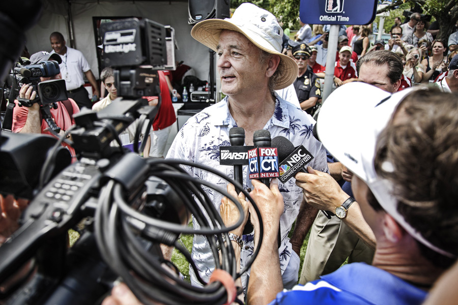 Bill Murray stole the show at the Wednesday pro-am.