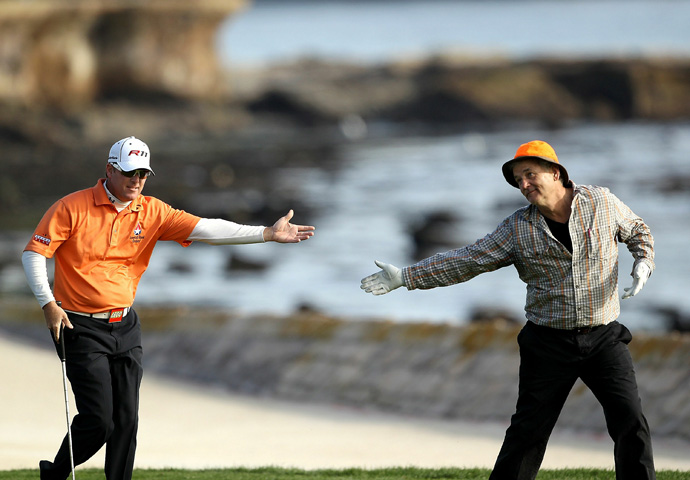 "Bill Murray Urges D.A. Points to Victory in 2011                           	He'd never won on Tour, but his idol Bill Murray was his partner, so D.A. Points had that going for him. He also had an eagle on the par-5 14th, which earned him a chest-bump from his amateur sidekick. Along the way, Murray cracked jokes and Points entertained the crowd with his Carl Spackler impression. He might have also quoted Bishop Pickering: ""This is the greatest round of my life!"""