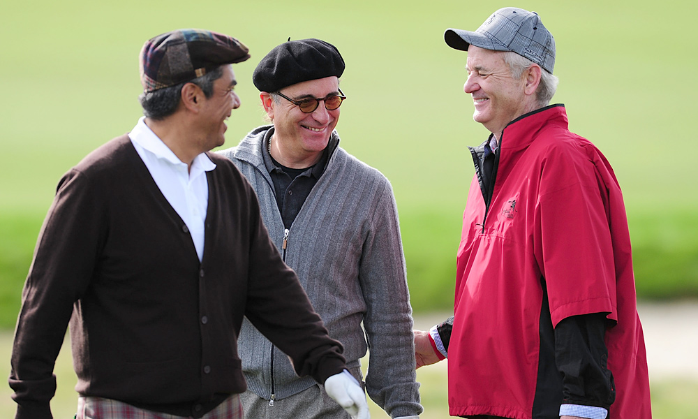 His friends in comedy George Lopez (left) and Andy Garcia are also regulars at the Pro-Am.
