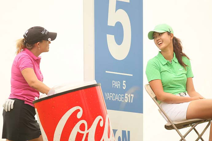 Michelle Wie and Cristie Kerr at the the 2009 Navistar Classic in Prattville, Ala.