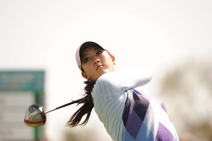 Michelle Wie tees off at the 2010 LPGA Kia Classic at La Costa Resort in Carlsbad, Calif.