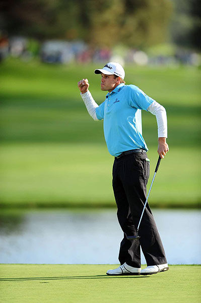 Final Round of the Buick Invitational                           Nick Watney sunk a birdie putt on the 18th hole at Torrey Pines to win the tournament by one stroke.