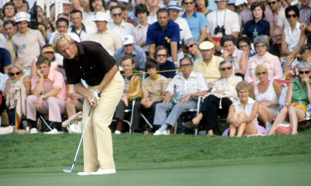 After his 1972 victory, Nicklaus finished tied for fourth in '73 at Oakmont.