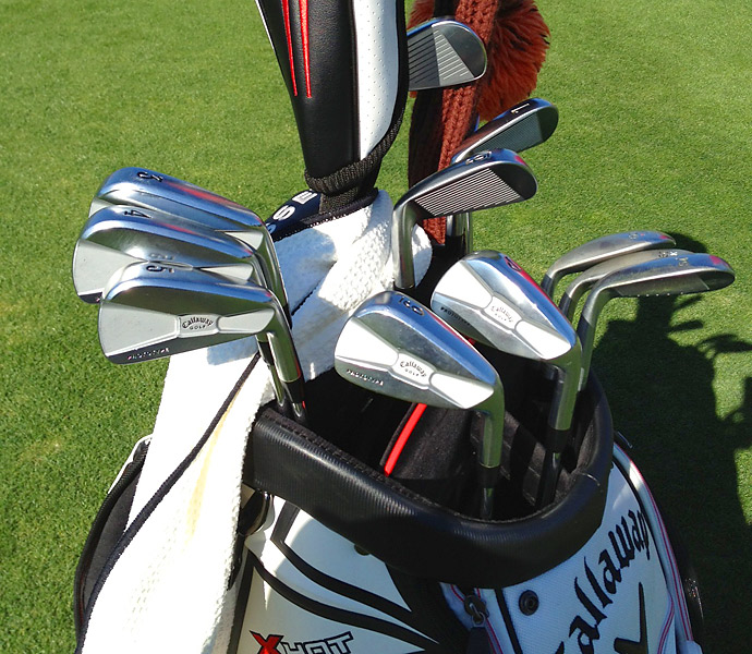 Nicolas Colsaerts has some Callaway forged prototype irons in his bag at Riviera.