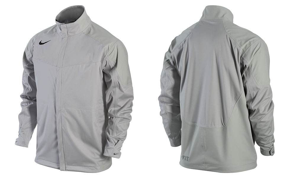 Nike Storm Fit Jacket ($100, Buy at Golf.com)                           All the rain protection most guys will ever need, the Storm Fit jacket is waterproof, completely seam-sealed, and breathable. It's also quite handsome in silver-gray with black swoosh. Best of all, it weighs 6.7 ounces.