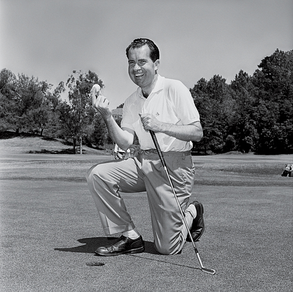 Richard Nixon took up the game as a way to spend time with Eisenhower when Nixon was vice president. By Nixon's second term, he had little time for the links as he dealt with Vietnam and Watergate. He retired to his home in California, where friends built him a three-hole course.