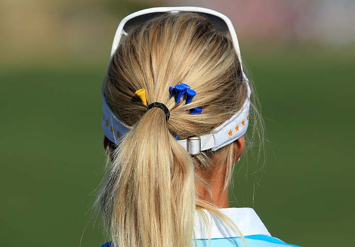 Anna Nordqvist made a hole-in-one the 187-yard par-3 17th on Saturday morning.
