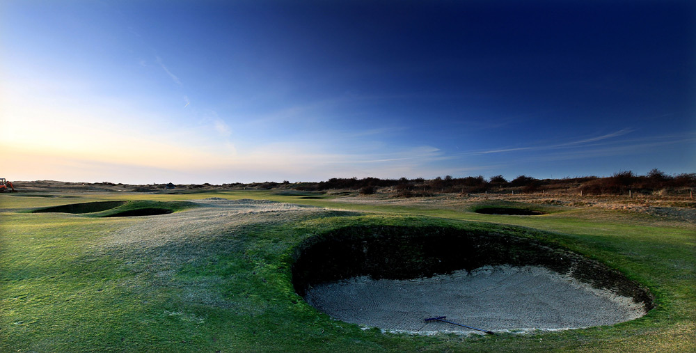 Check the local tidal schedules (available on the club's website at rwngc.org) because access to the course is affected by the nearby North Sea. Also known as Brancaster, the 6,457-yard course is 125 years old and allows only two balls in play at once -- you're either playing as a single with one other person, or you're playing alternate shot with a partner and another twosome.