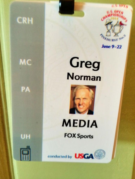 @SharkGregNorman: The start of a new era. No more a player @usopengolf. Proud to be the lead analyst for @FOXSports @USGA starting 2015