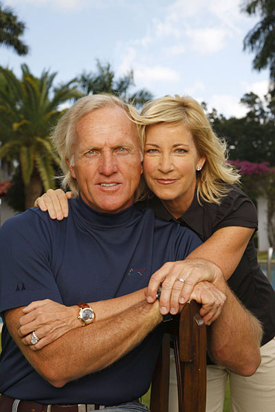 Two years after he divorced his first wife, Laura, Norman married tennis star Chris Evert in June 2008. But after a little more than a year of marriage they divorced. In November 2010, Norman married Kirsten Kutner, an interior decorator.