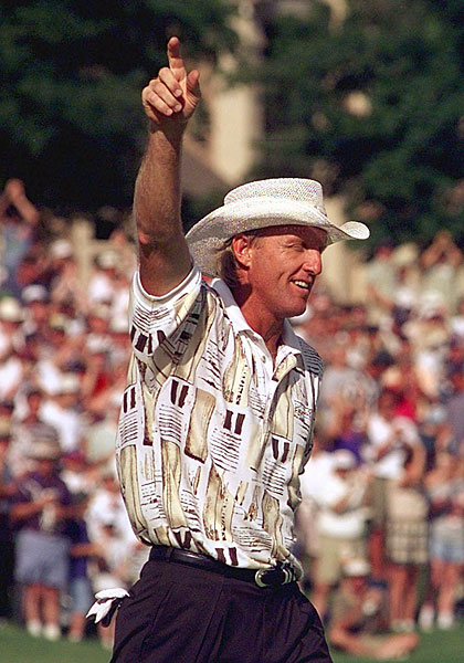 Norman won his last two PGA Tour events in 1997 at the St. Jude Classic (above) and the NEC World Series of Golf. Norman won a total of 20 events on the PGA Tour.