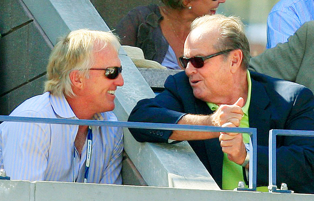 Norman is also a fixture at major tennis events, often rubbing elbows with other celebrities, like at the 2009 U.S. Open, where Norman chatted with Jack Nicholson.