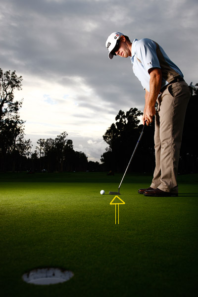 My Pressure-Putt Key                                                      You develop feel throughout the match as you play the holes. When you face a high-pressure putt toward the end of a round, trust that feel. In my practice strokes I try to feel the right stroke that's going to be needed to create the right speed. As soon as I feel it, I step into my stance and just let it go.