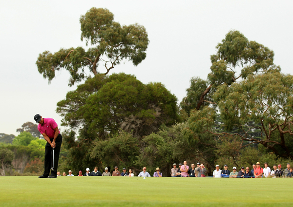 made three birdies and a bogey in the opening round of the JBWere Masters in Australia.