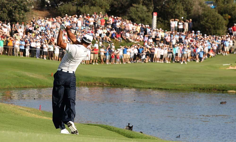Woods had two bogeys and three birdies on his second nine.