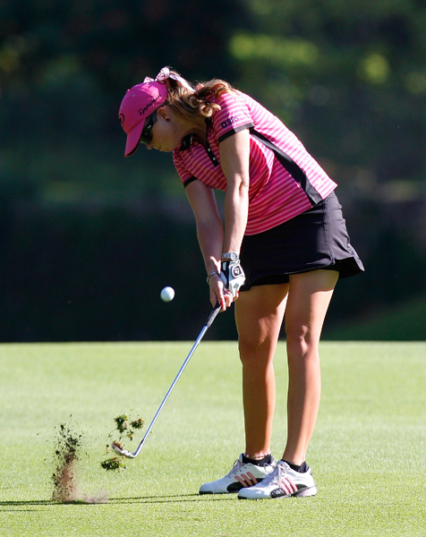 shot a three-under 69, and she is tied for second place.