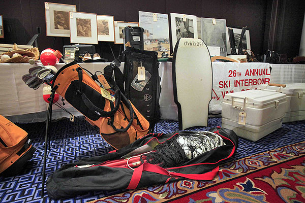 Items seized from Ponzi-schemer Bernard Madoff were auctioned off Friday, including several sets of golf clubs.