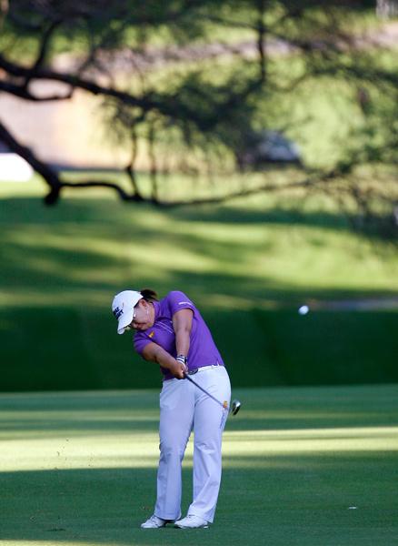 Jiyai Shin leads by three strokes after a six-under 66.
