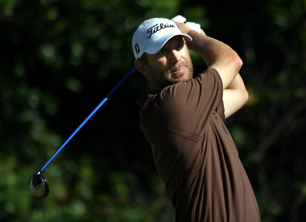 George McNeill had a two-shot lead, but he bogeyd 17 and double bogeyed 18 to fall into a tie for the lead with Justin Leonard, Justin Rose and Mathias Gronberg.