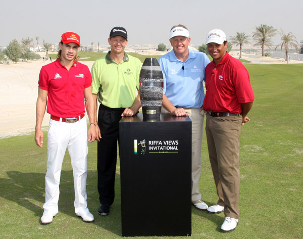 Camilo Villegas at the River Views Invitational Skins GameLeft to right: Camilo Villegas, Retief Goosen, Colin Montgomerie and Michael Campbell played a skins game in Bahrain to celebrate the completion of Montgomerie's course at Riffa Views.