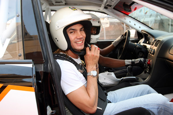 Before the skins game, Villegas went for a ride in a race driving experience at the BIC (Bahrain International Circuit) venue for the Bahrain Formula 1 Grand Prix.