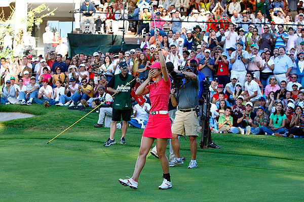 Michelle Wie silenced critics on Sunday when she won her first LPGA Tour event in Mexico. She beat Paula Creamer by two strokes.