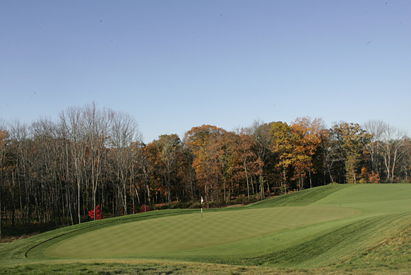 The green at the par-5 15th.