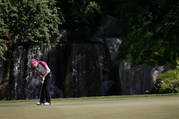 Round 1: The 2008 ADT Championship                           In the first round, Annika Sorenstam, who is walking away from golf after this tournament, turned around a rocky round with two back-to-back birdies on the back nine. She is at two over par.