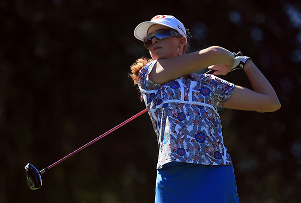 Paula Creamer is two strokes off the lead at one under par.