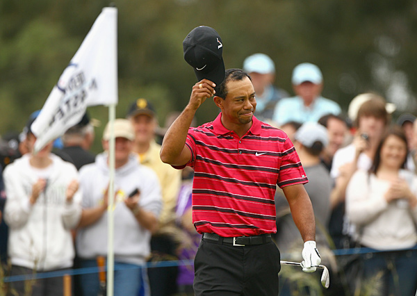 Nov. 14 - Woods makes two eagles on the final four holes for a 65 to match his best score of the year. He finishes alone in fourth at the Australian Masters, and for the first time in his pro career, goes an entire calendar year without winning.