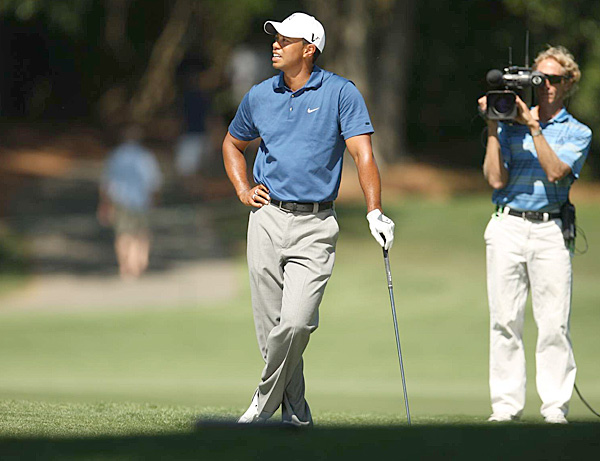 "QUAIL HOLLOW, April 30                                                      On the course                           Well, he was back. Posts a second-round 79 to miss the cut for just the sixth time in his career.                                                       Off the course                           How far has his stock fallen? In the past, his Quail Hollow pro-am partners have included Michael Jordan and Peyton Manning. This year? Nary a single request, says the tournament director.                                                      Perceived stress level:                               Despite a dismal week, he keeps a sense of humor, noting: ""At least I get the weekend to watch and see... how real players play golf."""