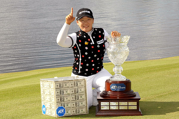 Ji-Yai Shin won the ADT Championship, plus the $1 million prize.• Return to 2008 Year-in-Review Homepage