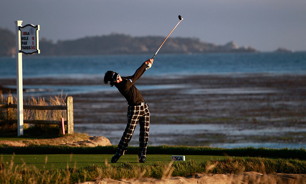 """I'm thankful for golf in the gloaming, be it long shadows at La Purisima or thick mist at Montauk.""  - Damon Hack, Sports Illustrated senior writer [Pictured: Ryo Ishikawa at the 2010 U.S. Open at Pebble Beach]"