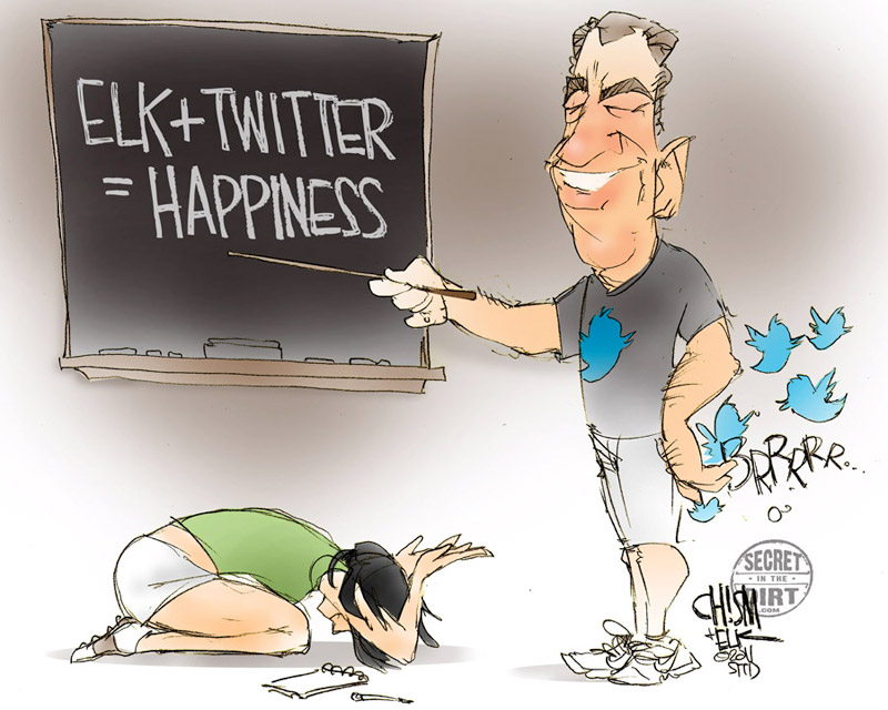 """I'm thankful Steve Elkington joined Twitter."" -- Stephanie Wei, contributor, SI Golf+ [Illustration by Calder Chism. Follow Elkington on Twitter at @elkpga and check out secretinthedirt.com.]"