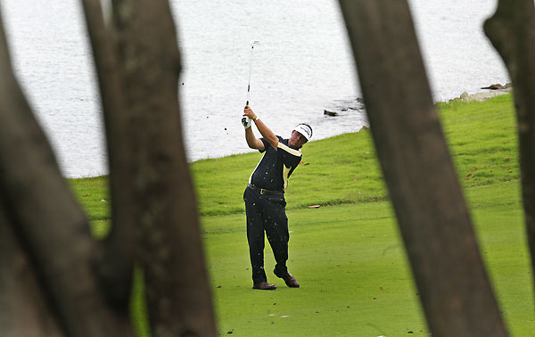 "Barclays Singapore Open: Round 2                       Phil Mickelson finished six shots back after a one-over 72. ""I didn't strike the ball the way I wanted to though I made some good putts coming down the stretch to keep me in it,"" Mickelson said."