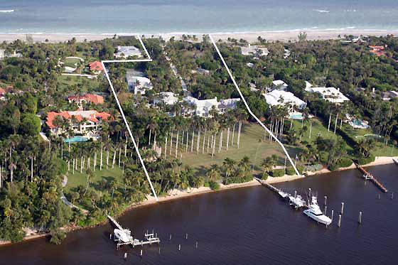 Greg Norman has listed his estate on Florida's Jupiter Island with the Corcoran Group for $65 million. If the property sells for that price, it will be a record for the area, surpassing the $44.5 million that Tiger Woods paid for a nearby lot, according to the Wall Street Journal.  Norman's spread, which stretches across the island, is eight acres and has 16,000 square feet of air-conditioned space.