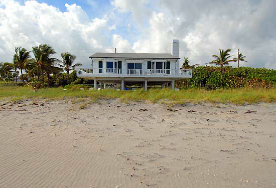 The guesthouse sits on 172 feet of private oceanfront property.