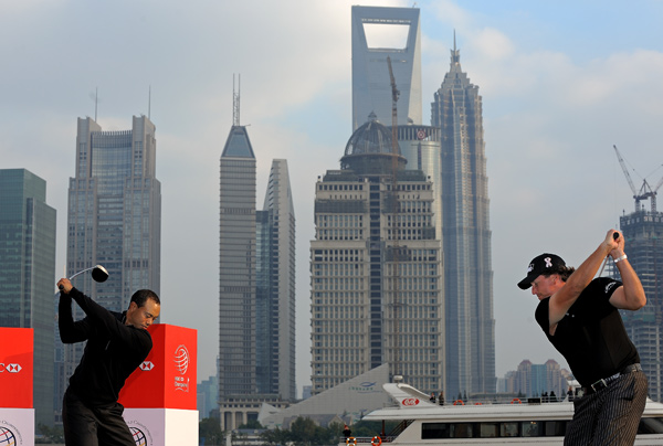 Tiger Woods and Phil Mickelson headline the field at this week's HSBC Champions in China, a World Golf Championship event.