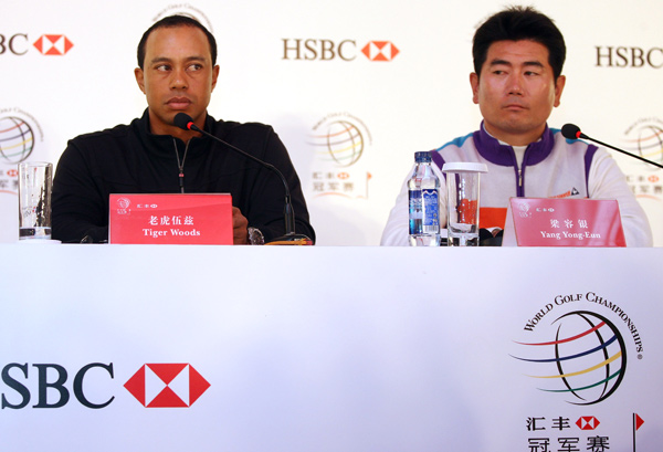 Y.E. Yang beat Tiger Woods at the HSBC event in 2006 and at the PGA Championship August.