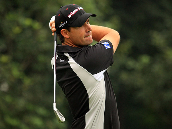 Padraig Harrington finished with two birdies for a three-under 69.