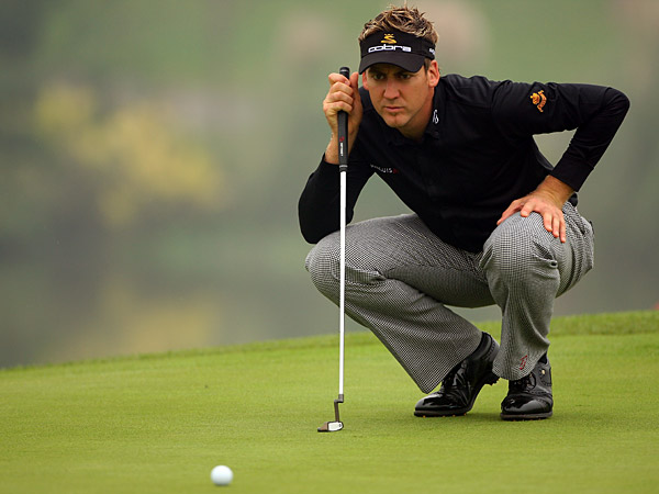Ian Poulter birdied 18 to finish at four-under par, three behind Stenson.