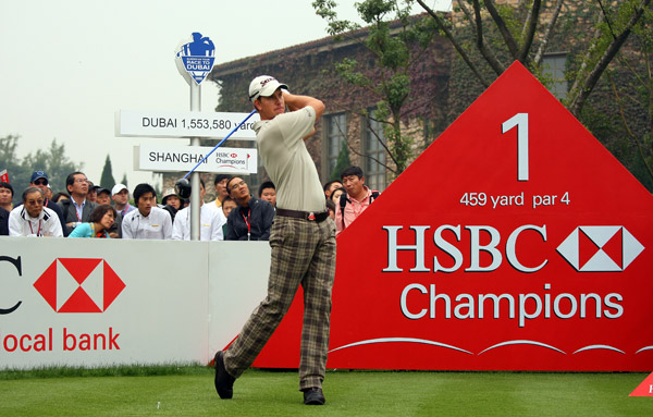 First Round of the HSBC ChampionsHenrik Stenson made six birdies, an eagle and a bogey for a one-shot lead over Phil Mickelson, Sergio Garcia, Anthony Kim and Adam Scott.
