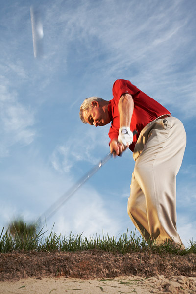 How to Escape the Junk                           You missed the fairway. Big deal. This power play gets you back in the hole                           By Steve Bosdosh                           Top 100 Teacher                           This story is for you if...                                                      • You miss a lot of fairways.                                                      • You don't have a go-to swing to get you back into play.                                                      The Situation                           Your lie in the rough is thick, covering the ball on all sides.                                                      The Solution                           Accept that you're not going to hit the green. This is gouge time — a 9-iron at best. You're going to use a lot of the elements from your bunker swing, but instead of sliding your club through sand, you'll slam it steeply into the back of the ball.