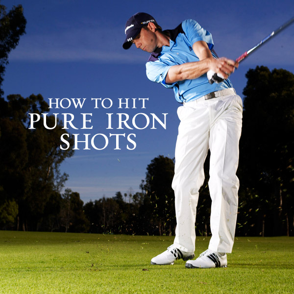 How to Hit Pure Iron Shots                             Use my six swing keys to knock down the flag with every iron in your bag                                                          By Sergio Garcia                             PGA Tour Player                                                          Whenever I'm scoring well, it's usually because I'm hitting approach shots close enough for a one-putt or, at worst, a two-putt. I love hitting irons — it's something I've always done well, and to be a great iron player, you need consistency and distance control. I've built these two critical needs into my swing by focusing on six key but simple areas. Copy them and you'll hit approach shots consistently close like I do.