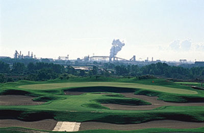 Harborside International (Port Course)                       Chicago, Ill.                       This breeze-fueled faux links boasts fescue-topped mounds and Windy City vistas.                       Greens fee: $55-$92                        Contact: 312-782-7837,