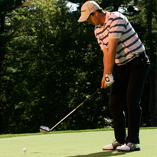 "3. Turn your left forearm toward the target                           ""I keep my arms quiet and use my lower body to start my downswing so I don't release the club early. But I will think about rotating my left forearm toward the target so I don't leave the clubface open. Use this swing key and my left-foot plant as a drill. Tee up a 5-iron, and once you reach the top of your swing, lift your left heel up and step toward the target and hit the ball. I can get a great strike this way. In fact, I hit most of my shots from the rough by lifting and stepping out with my left foot."""