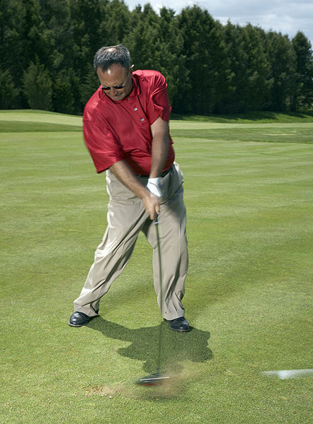 How to Hit a Dead-Straight Drive                       Make your own tee to make the ball split the fairway                       By Tom Patri                       Top 100 Teacher                                              This story is for you if...                                              • You're not very accurate off the tee.                                              • You need a shot that penetrates the wind.                                              What It Is                                              A low-flying, low-spinning tee shot you hit with your driver. This baby is a fairway-seeking missile, and because of its trajectory, is a go-to shot into the wind.                                              How to Hit It                                              Follow the steps on the follow slides. You won't get as much carry, but you'll get a lot more roll, so pick a final target at your normal driver distance.