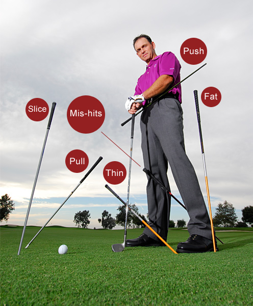 6 Ways to Fix Every Bad Shot                       Placing an old shaft or dowel in key positions can help you build a flawless swing                       David Phillips                       Top 100 Teacher                       If you know what kind of shots are doing the most damage to your scores, an old shaft can help you get rid of the error that's causing them. Just match the flaw to the drill and watch your bad ball flights go away.