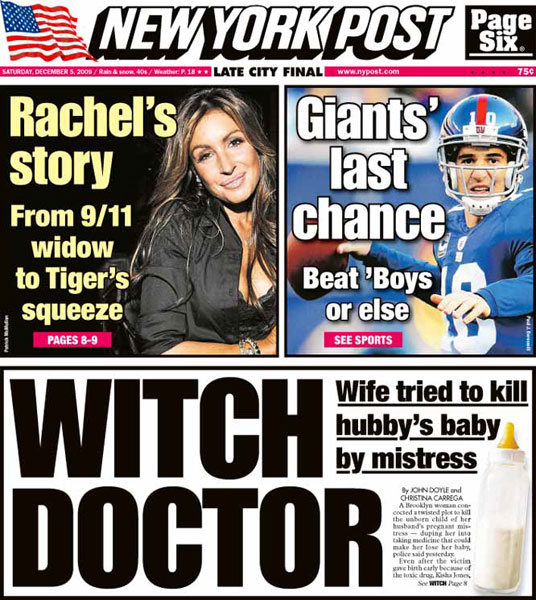 New York Post — December 5, 2009