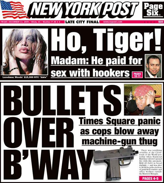 New York Post — December 11, 2009